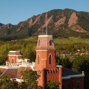Old Main building during spring