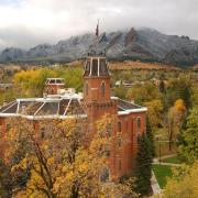 Old Main during winter