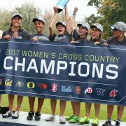 The CU women's cross country team, Pac-12 champions