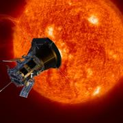 Illustration of the Parker Solar Probe approaching the Sun