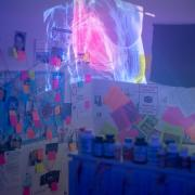 A photo showing part of Taylor Passios' honors thesis installation
