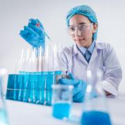 Stock image of a female scientist