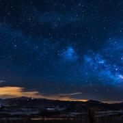 Starry night over the mountains