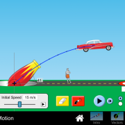 Physics simulation of a 55 Buick being shot out of a cannon