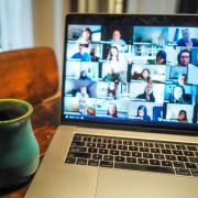 A Zoom video conference