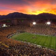 Folsom Field under the lights