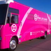 The Pink Life Saver mobile mammography bus