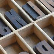 Letter press box.
