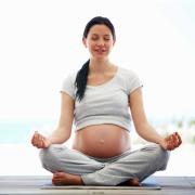 Pregnant woman meditating