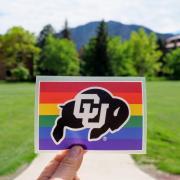 CU Buffs LGBTQ+ pride sticker