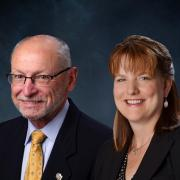 Provost Russell Moore and SVC/CFO Kelly Fox
