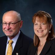 Provost Russell L. Moore and Senior Vice Chancellor and CFO Kelly Fox