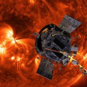 Artist's depiction of the Parker Solar Probe approaching the sun. (Credit: NASA/Johns Hopkins University APL)