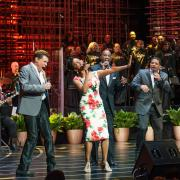 Clint Holmes, Take 6, Nnenna Freelon and Tom Scott performing during a Ray Charles tribute concert