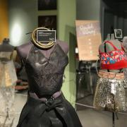 Recycled Runway couture on display at CU Museum of Natural History