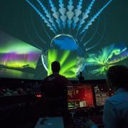 Light show at Fiske Planetarium