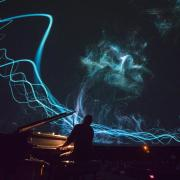 Live performance at Fiske Planetarium during Conference on World Affairs