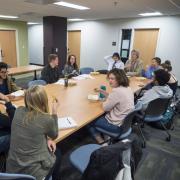 Philosophy professor Robert Pasnau teaching freshman seminar class Why Be Moral