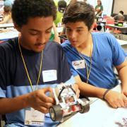 Students create robot during a CU Boulder summer camp