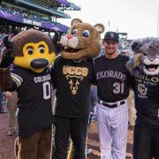 Chip, Clyde, Eddie Butler and Milo at Coors Field