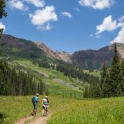 Two people hiking in Colorado