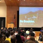 Dean Scott Adler welcomes new graduate students to campus