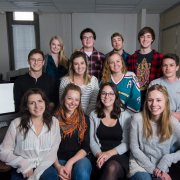 Students from the advertising program