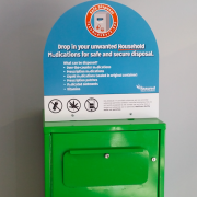 Medical waste disposal unit