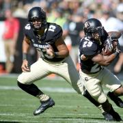 Buffs Liufau and Lee compete on the field