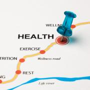 Stock image of the Road to Wellness and Health