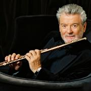 Sir James Galway with golden flute
