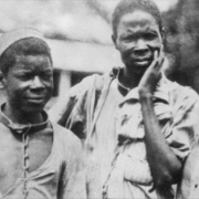 Black and white photo of slaves
