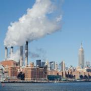 Smoke stacks in New York City