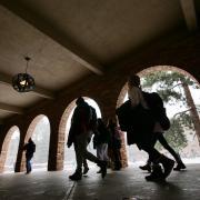 Students walk past the UMC