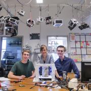 Undergraduates Andrew Pfefer, Anastasia Muszynski and Dawson Beatty