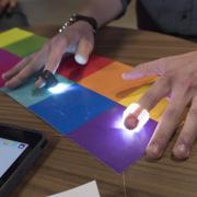 Specdrums founder wears app-connected ring that turns colors into sounds