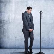 stock art of nervous person giving speech