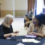 CU community members engage in a discussion