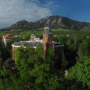 A panorama from campus