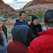 CU students camping