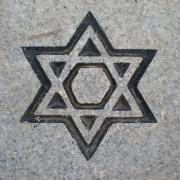 Star of David engraved in grave stone