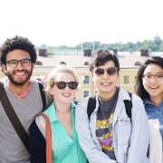 Engineering students studying abroad in Sweden