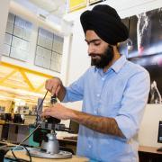 Graduate student Snehpal Singh Saini
