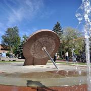 Sundial at Norlin Library