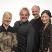 The Takacs Quartet with new addition Harumi Rhodes.