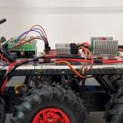 A robot that monitors lightning conditions for wind turbines