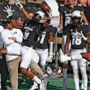 Strong safety No. 9 Tedric Thompson goes up for a one handed catch against Oregon State