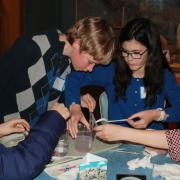 Kids at the Teen Science Cafe