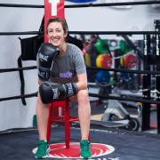 Tessie Dawson poses in the boxing ring