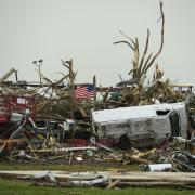 Aftermath of 2014 tornado in Vilonia, Arkansas